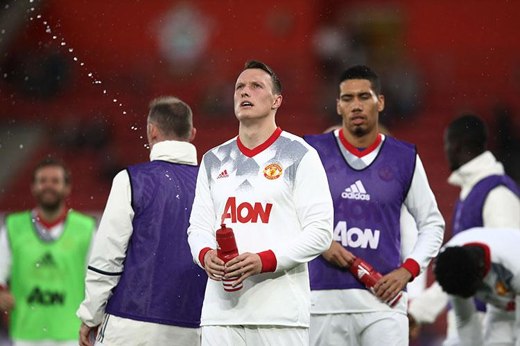 Phil Jones pondering the second law of thermodynamics before kick-off