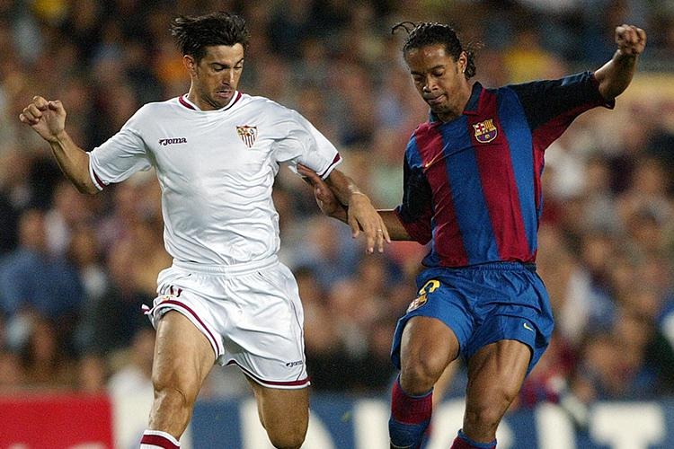 Ronaldinho tries to fight off the overwhelming feeling of tiredness