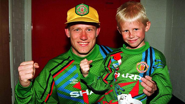 Premier League, 1993. When football was football, Peter Schmeichel was king, and his son Kasper had it all ahead of him.