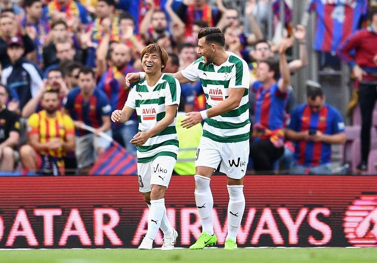 Takashi Inui threatened to deal Barcelona a final day loss