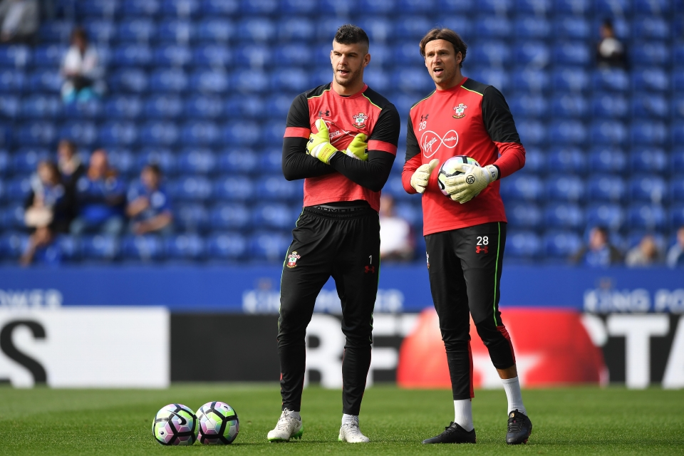 These days, Taylor's main duties involved warming up Fraser Forster