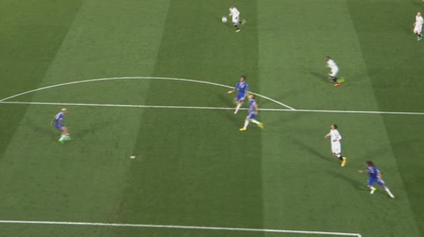 The ball looped up and it appeared Terry had plenty of time to clear the danger
