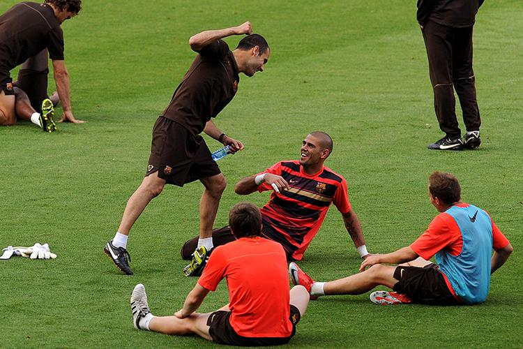 Pep Guardiola and Victor Valdes have clearly always been close