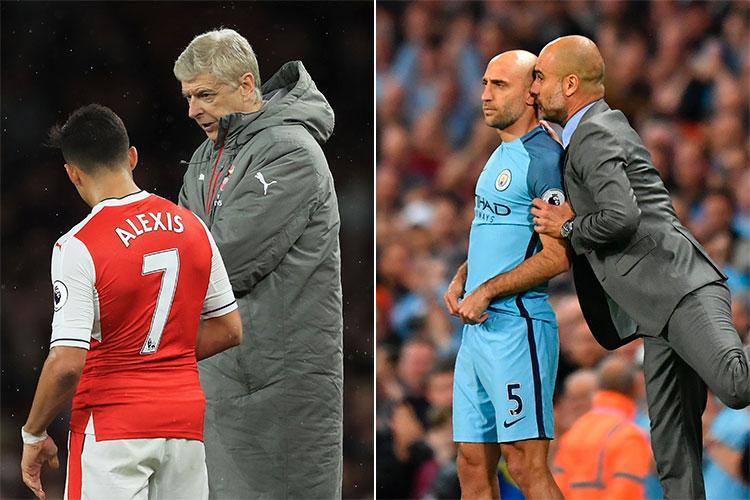 Motivational stuff from Arsene Wenger and Pep Guardiola