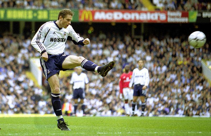 Willem Korsten in action for Spurs, 2001