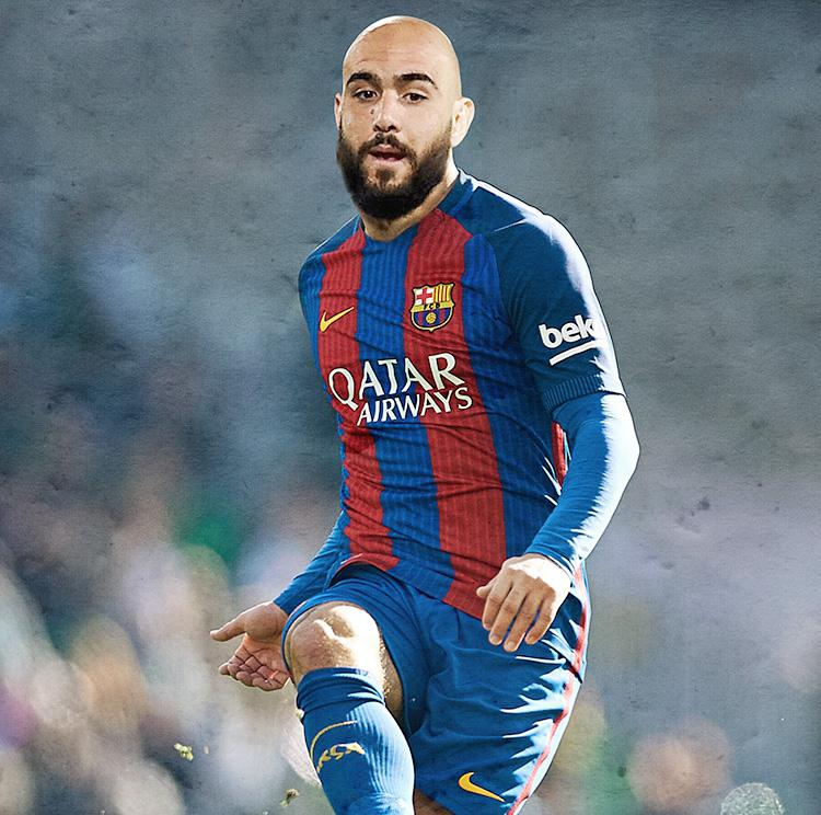 He does look good in a Barcelona kit to be fair