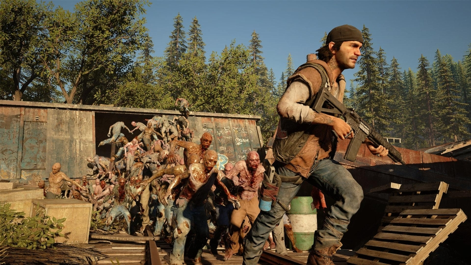 You'll have your work cut out to survive in Days Gone as literally hundreds of zombies pop up on the screen at once