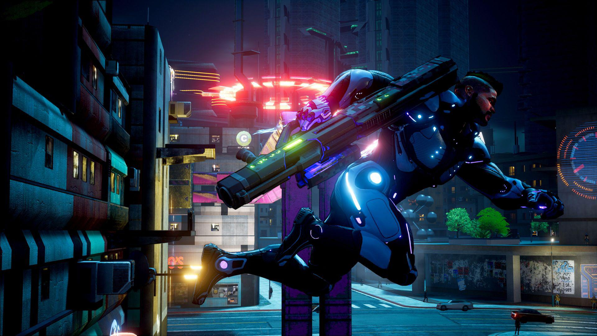 The latest 4K screenshots show off Crackdown's trademark cell-shaded style