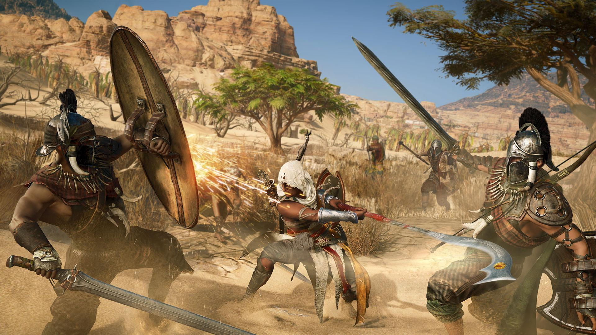 Ubisoft's Assassin's Creed Origins was shown running on an Xbox One X - and it looks spectacular