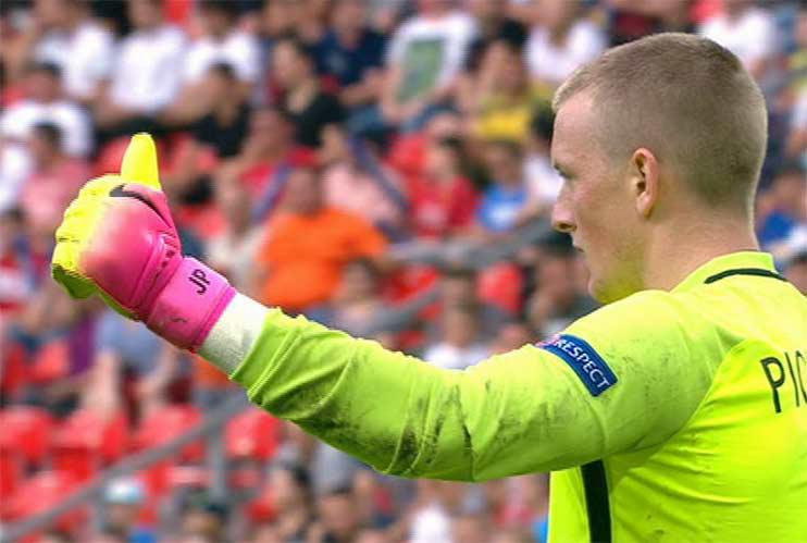 …and the linesman got the Pickford thumbs up