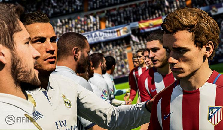 Ronaldo meets Antoine Griezmann ahead of a clash between Real Madrid and Atleitco