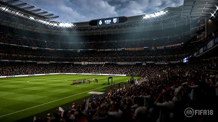 Stadiums have had a complete overhaul this year – with improved lighting and detail thanks to Frostbite