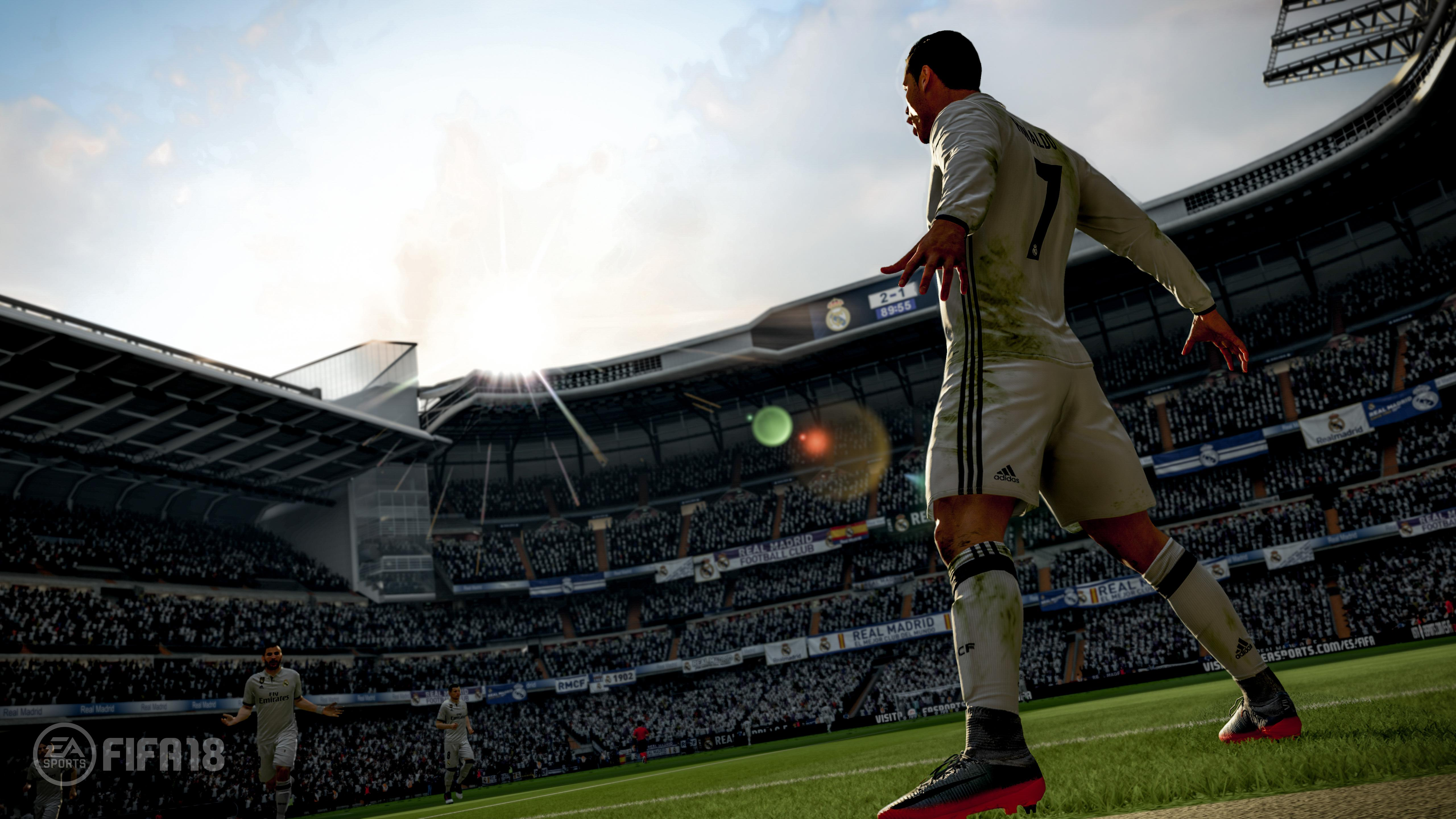 FIFA 18 is powered by the Frostbite engine – which looks to have been put to better use this year