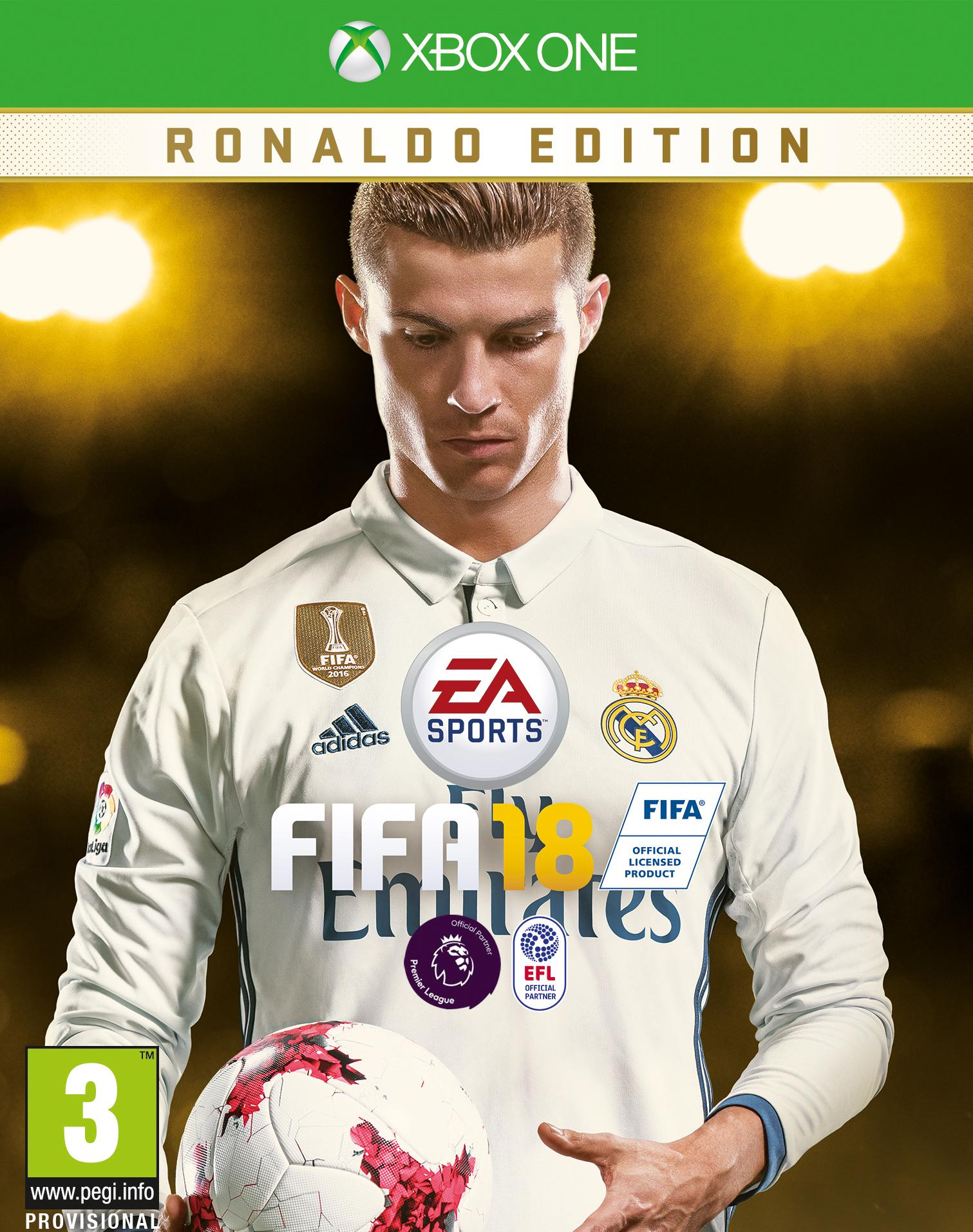 The Xbox One cover of FIFA 18