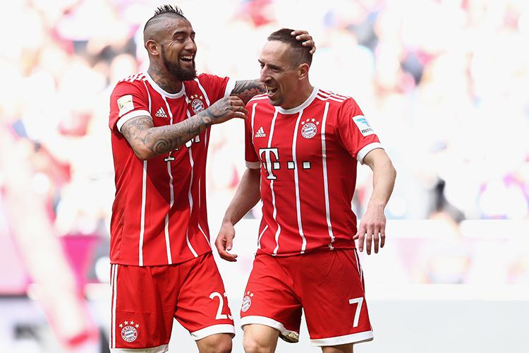Ribery, right, may have slowed down a bit but in real life he's still an incredible player