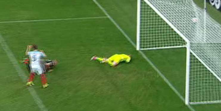Jordan Pickford resigned himself to conceding the third goal