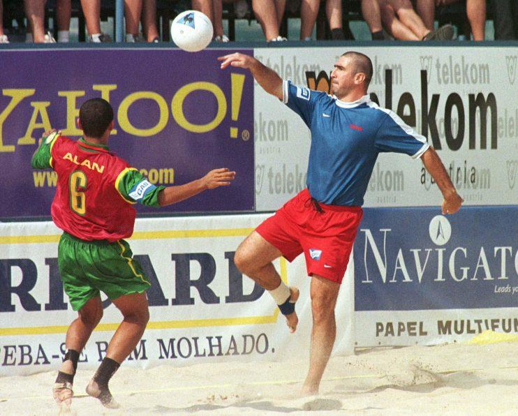 Eric Cantona, one of the kings of beach soccer