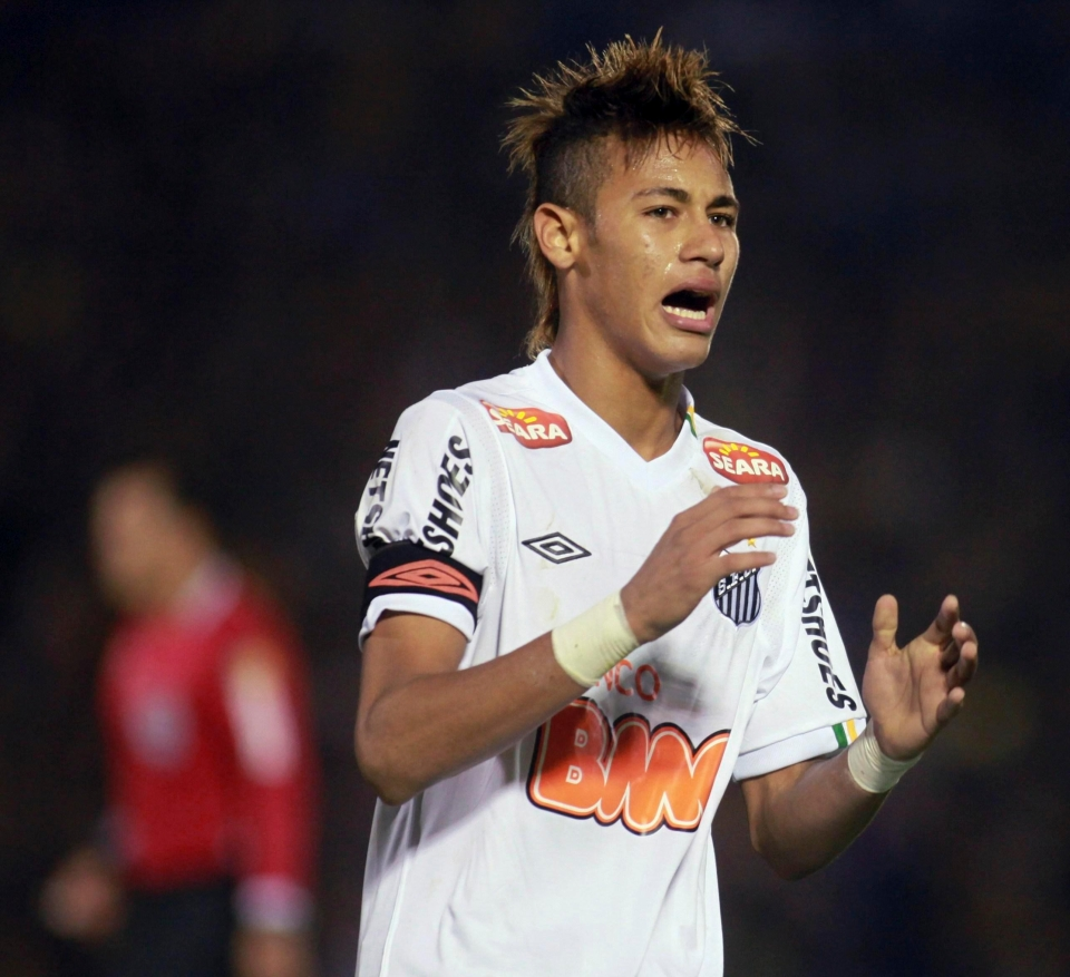 Neymar was a target for both Real Madrid and Barcelona while at Santos