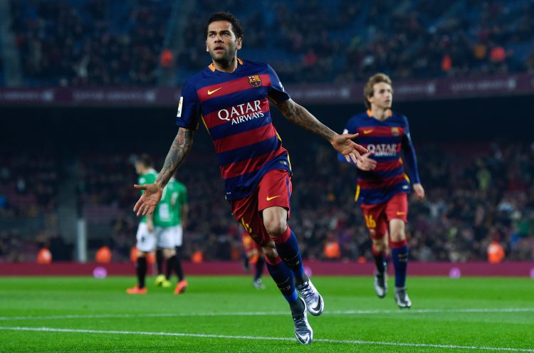 Alves spent eight extremely successful years at Barcelona