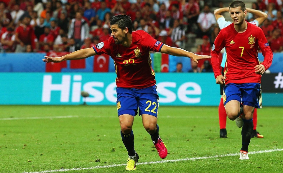 Nolito in action during Euro 2016 and he is desperate to make World Cup squad