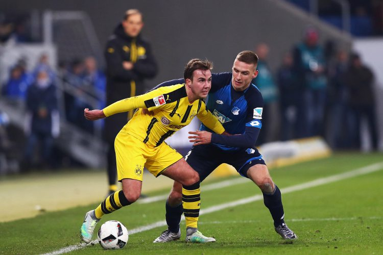 Gotze in action last December, in one of his last outings