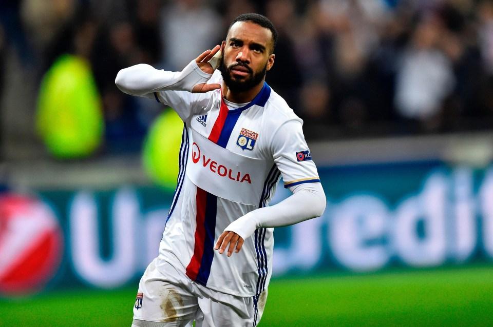 Lyon are demanding £57m for striker Lacazette