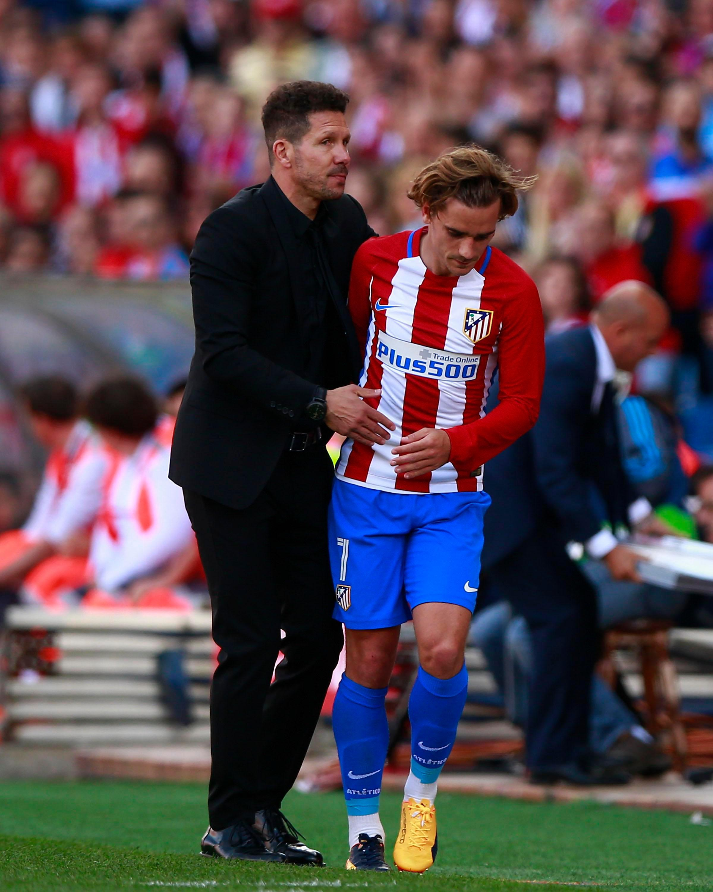 Antoine Griezmann revealed he had spoken to Atletico Madrid boss Diego Simeone about his future