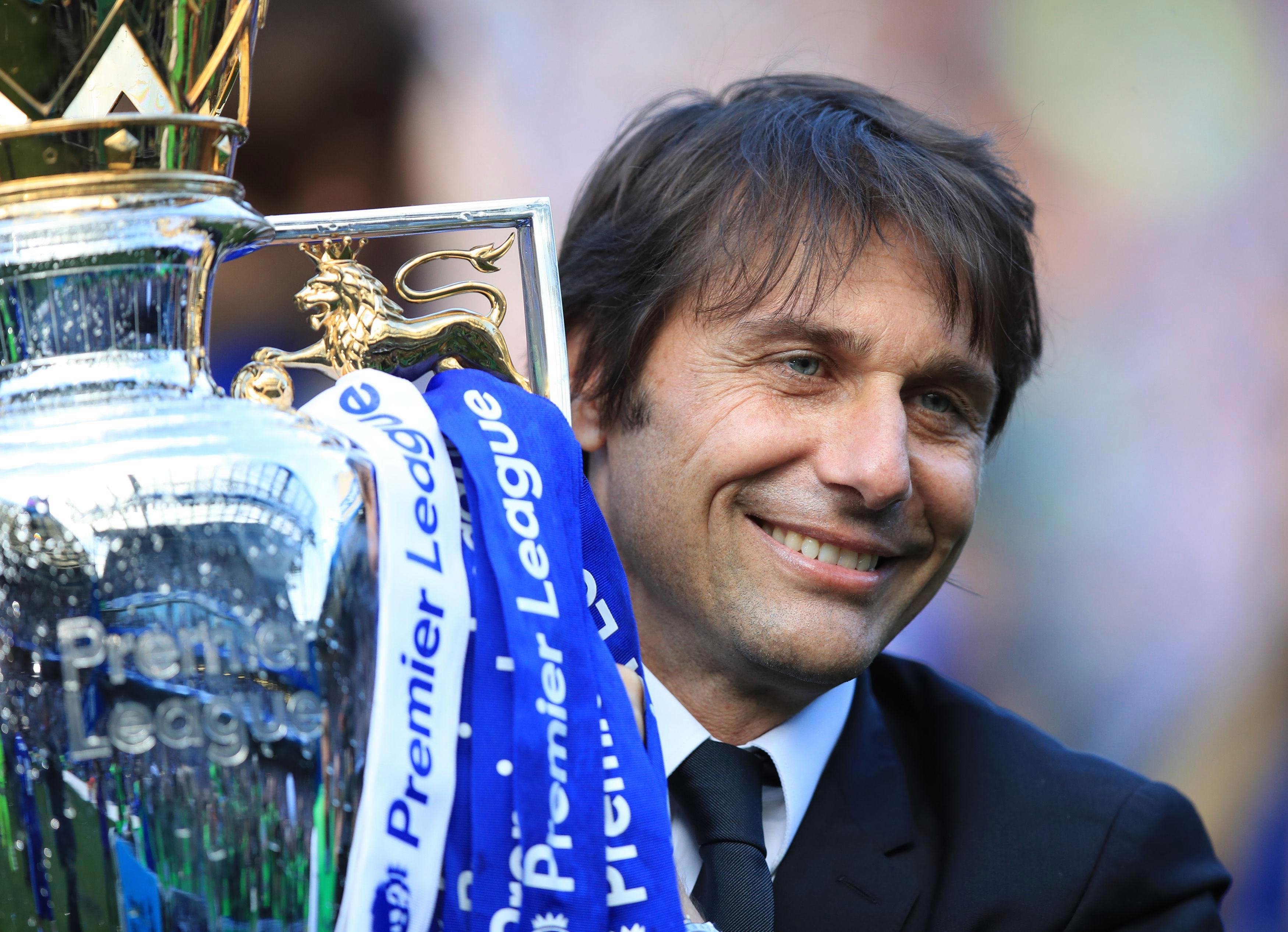 Antonio Conte is looking to clinch back-to-back Premier League titles
