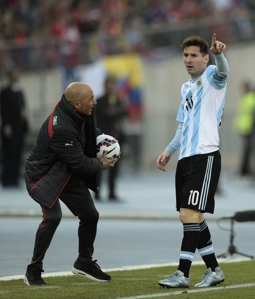 Sampaoli has put all his faith in Messi to deliver the goods