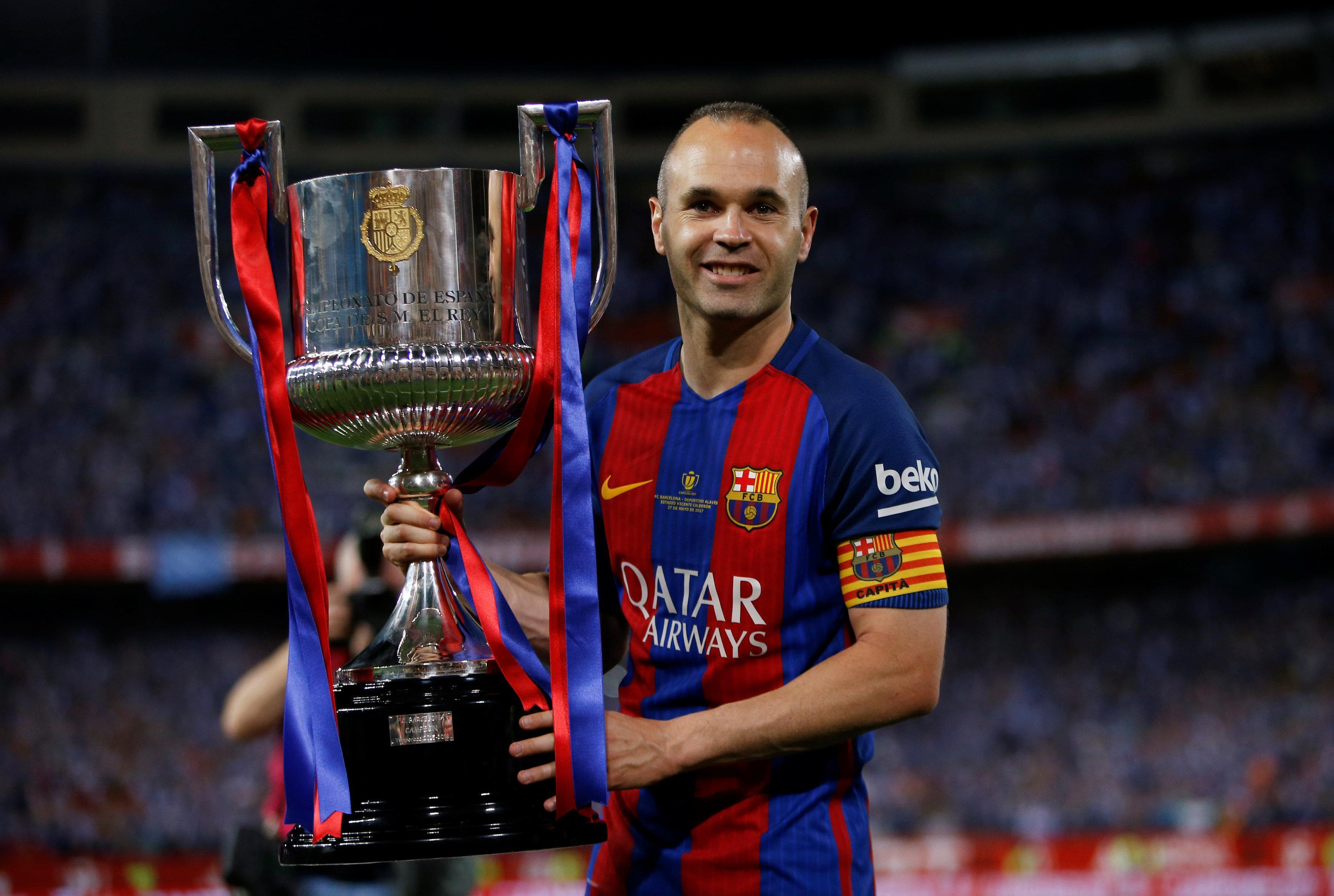 Andres Iniesta has helped Barcelona to win countless honours during his time with the Catalans
