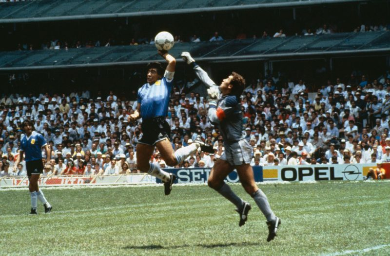 We know it's three decades later, but seriously, HOW did the referee not see this?