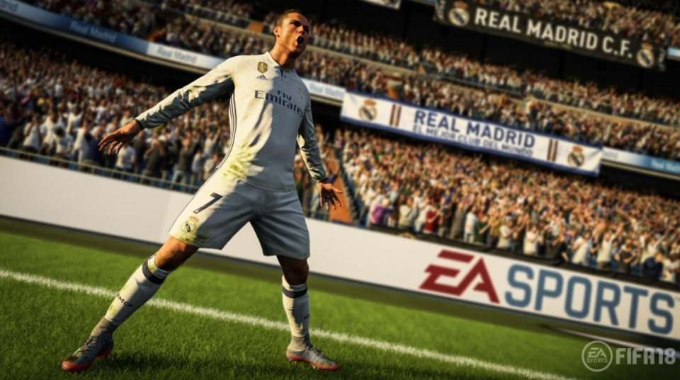 Cristiano Ronaldo performs his iconic celebration in the FIFA 18 launch trailer