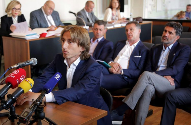 Modric dramatically changed his testimony in court
