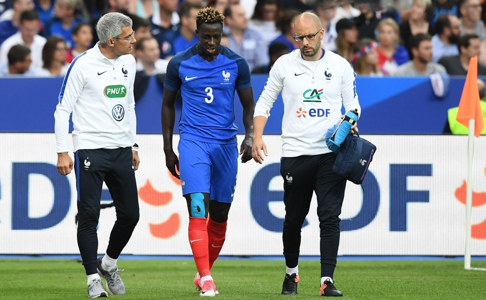 Mendy limped off early on