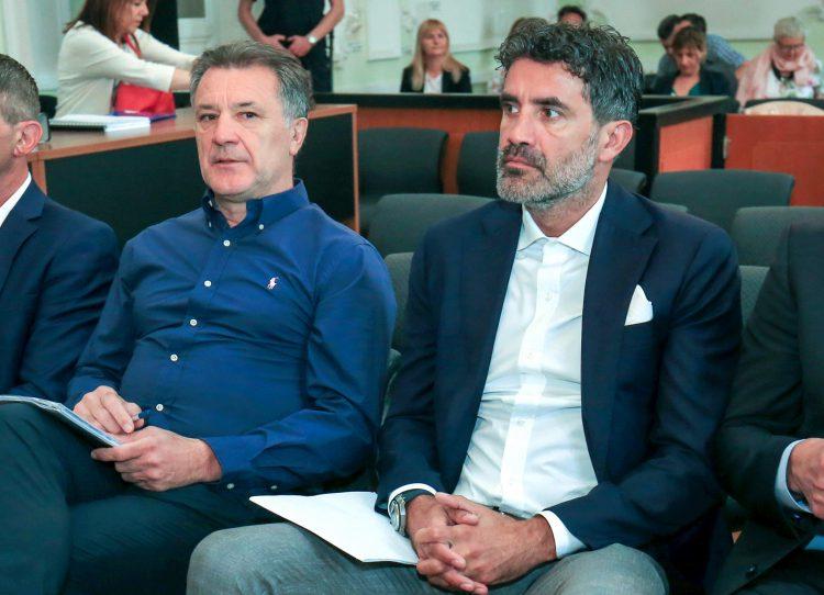 Zdravko Mamic (left) at the trial