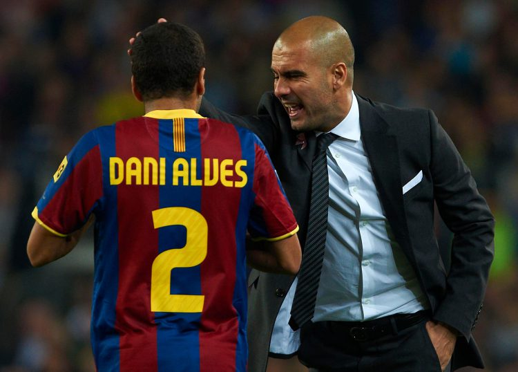Alves was a member of Guardiola's Barcelona side that's widely considered one of the greatest in the history of the game