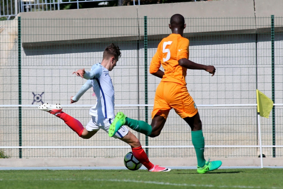 Remember the name! David Brooks opens the scoring for England against Ivory Coast