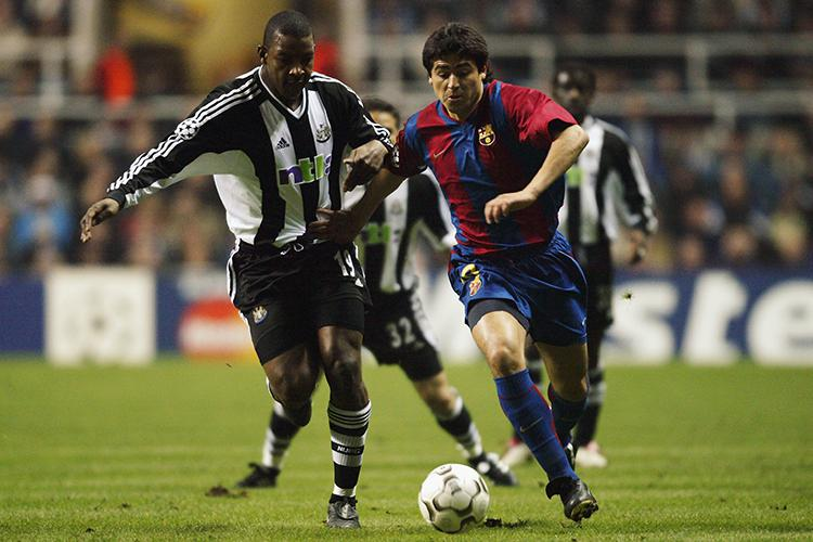 Not one of the world's most expensive defenders, but we'll never pass up the opportunity to look at Titus Bramble playing against Barcelona