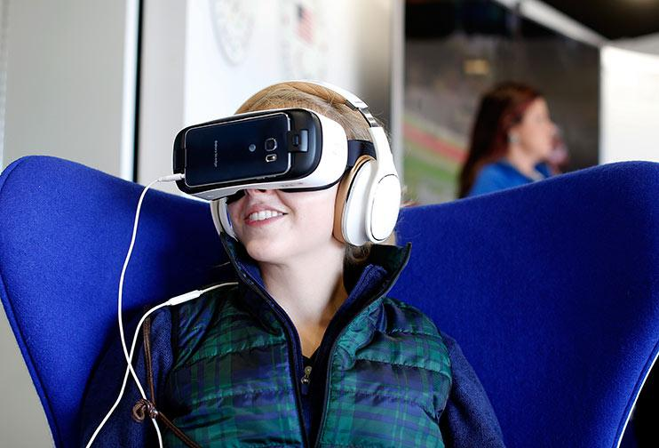 Some could criticise VR for taking away the communal aspect of watching football together