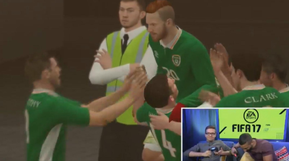 McGregor celebrates his first goal
