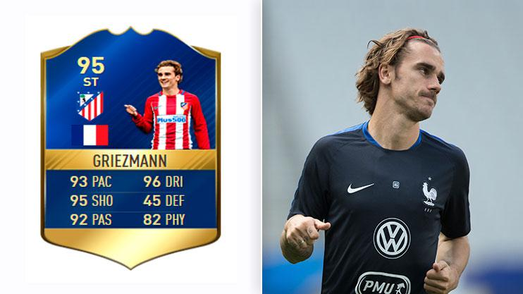Griezmann topped the list again for the current game. Will he still be there by the time FIFA 18 comes around?