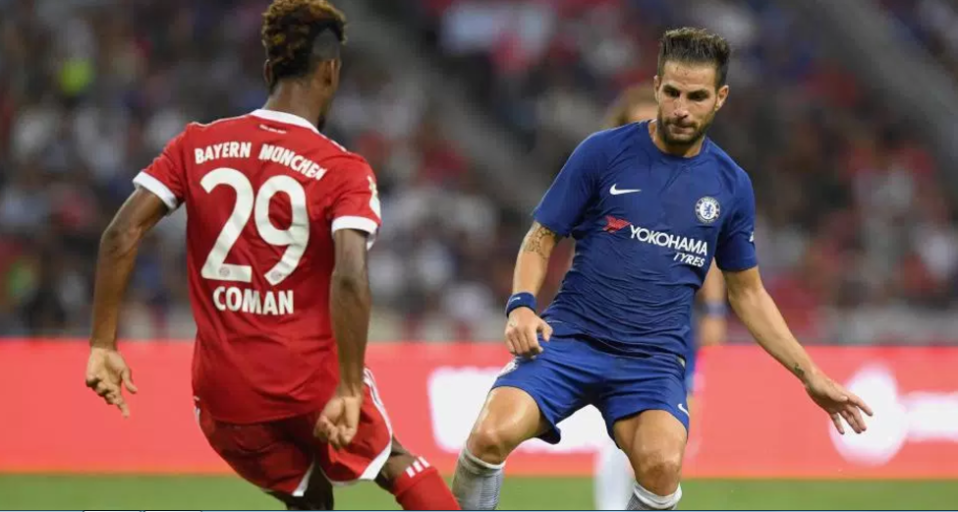 Cesc Fabregas was quick to celebrate his team's title success
