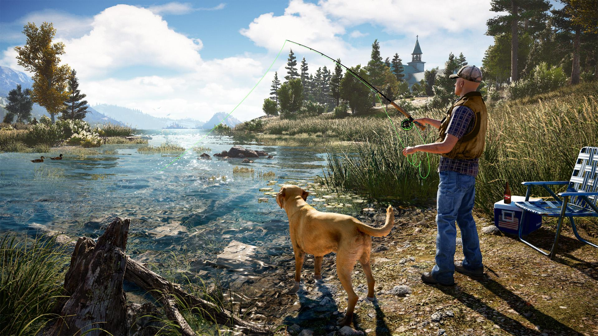 If it all gets too much, you can go fishing in one of Hope County's many lakes