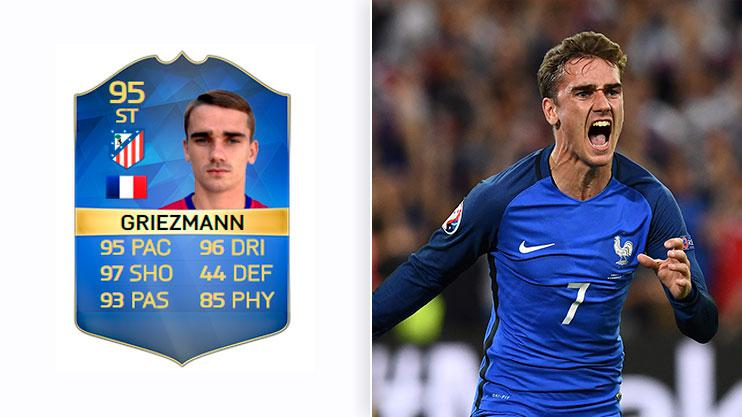 Griezmann was the star Frenchman on FIFA 16