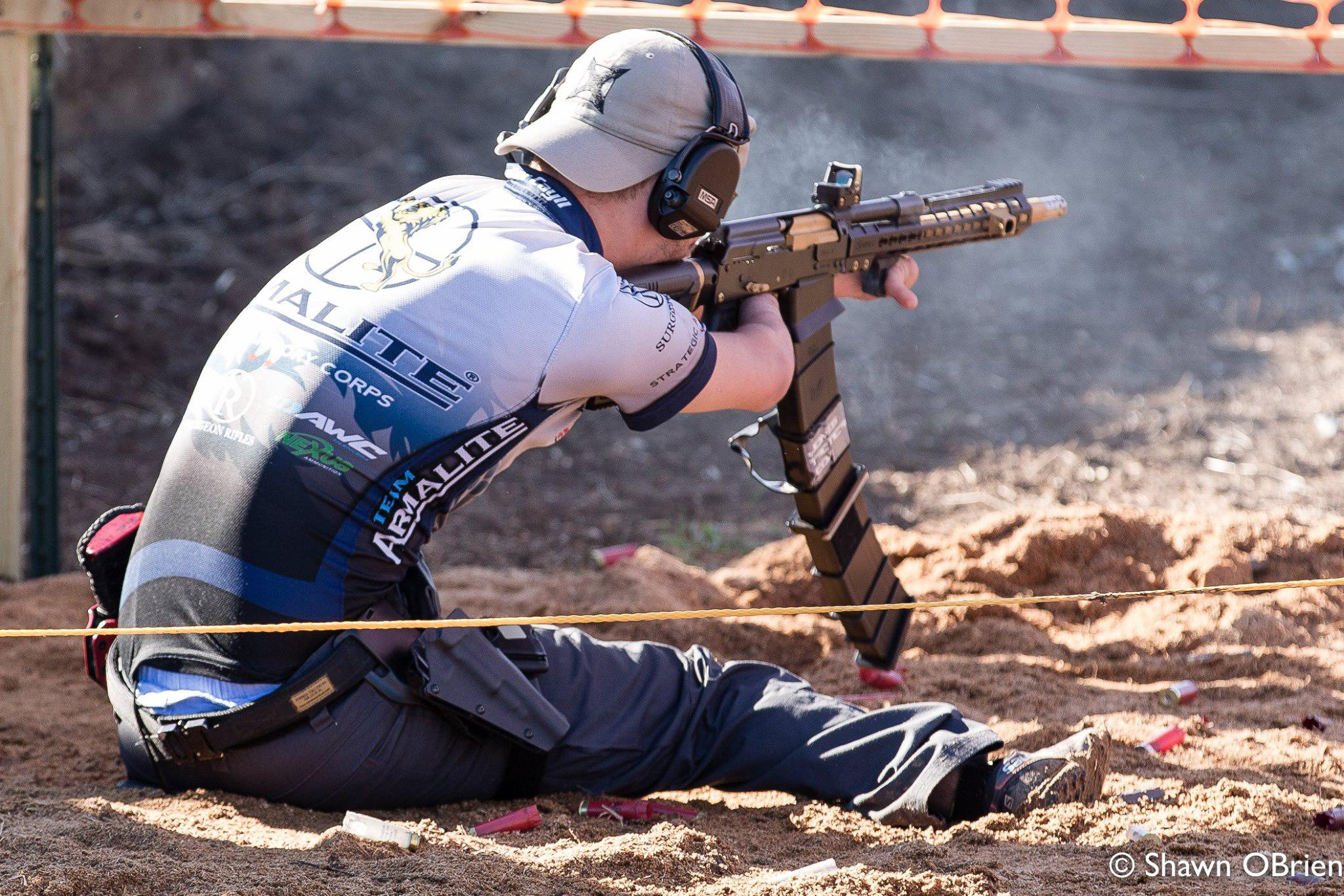 Hunter in action during the 2016 Missouri 3 Gun Championship
