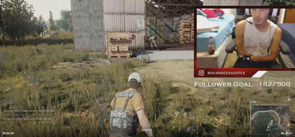 Hunter's currently trying to master PlayerUnknown's Battlegrounds