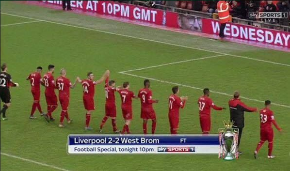 Right in front of the Kop as well
