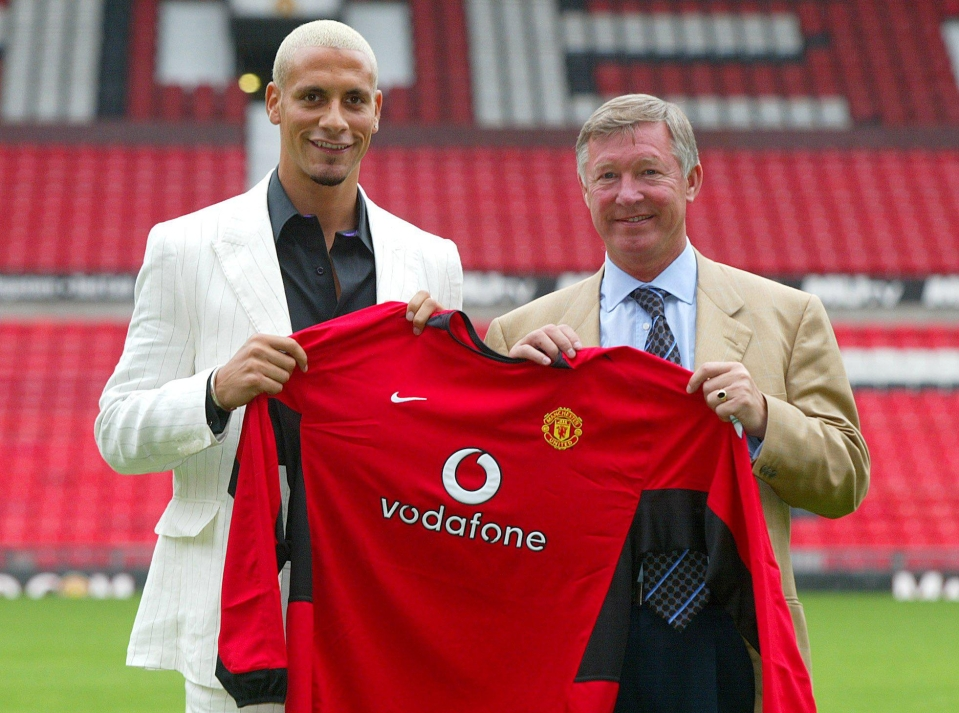 Ferdinand standing next to some old bloke