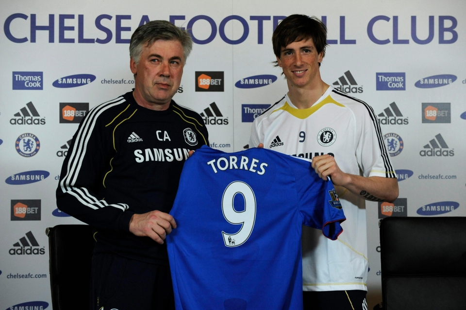 Chelsea present Fernando Torres in January 2011 — but all smiles soon disappeared