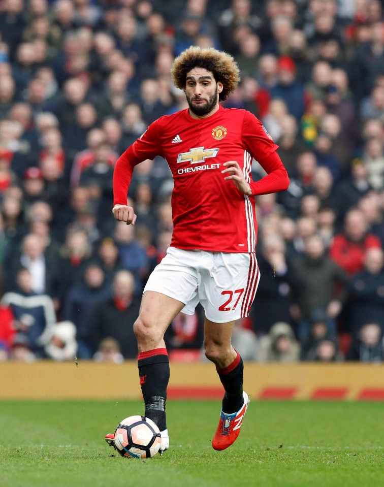 Marouane Fellaini has struggled to win over fans at Manchester United